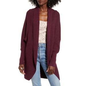 NEW Leith Ribbed Long Sleeve Cardigan Sweater